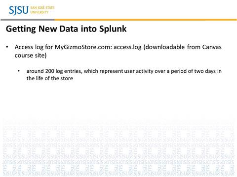 Big Data - Advanced Splunk - Part I