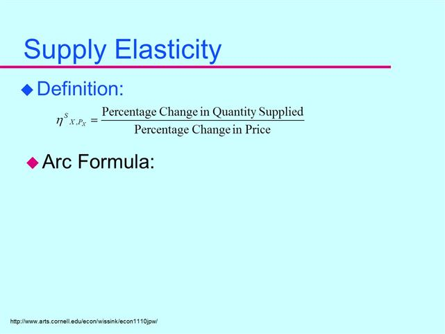 change in quantity supplied definition