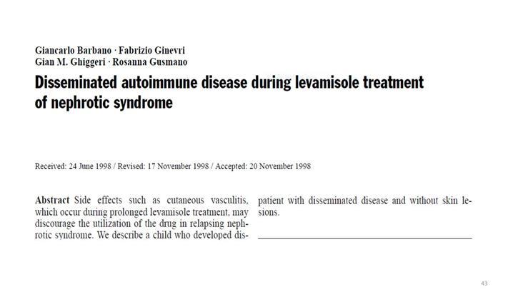 Pathogenesis of Drug Induced Vasculitis - Dr  N  Khalid