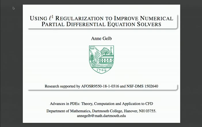 Using ℓ1 Regularization to Improve Numerical Partial Differential