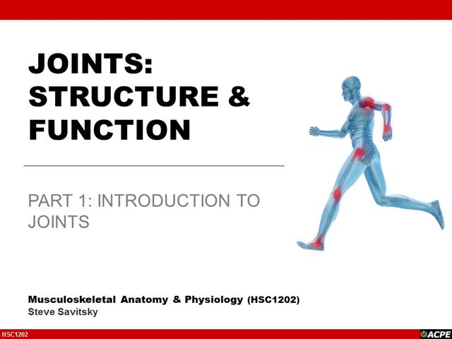Lecture 4 Joints Structure Function