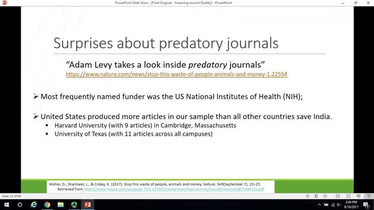 Assessing Journal Quality: Prestigious vs Predatory Journals