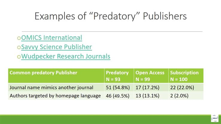 Assessing Journal Quality: Prestigious vs Predatory Journals