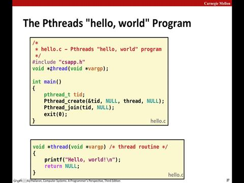 Lecture 23: Concurrent Programming