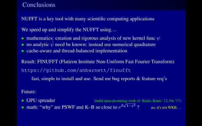 Building a better non-uniform fast Fourier transform - Alex