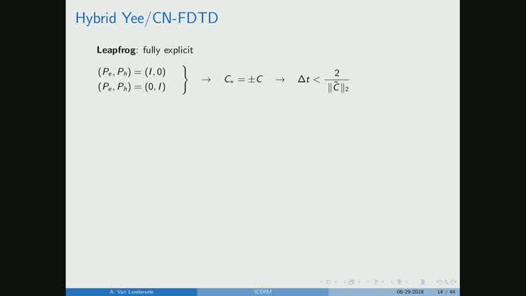 Hybrid collocated-staggered and implicit-explicit FDTD