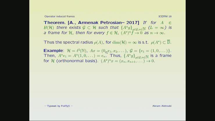 Frames Generated From Exponential Of Operators Akram Aldroubi