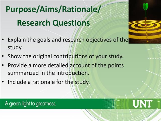 what is a rationale of the study
