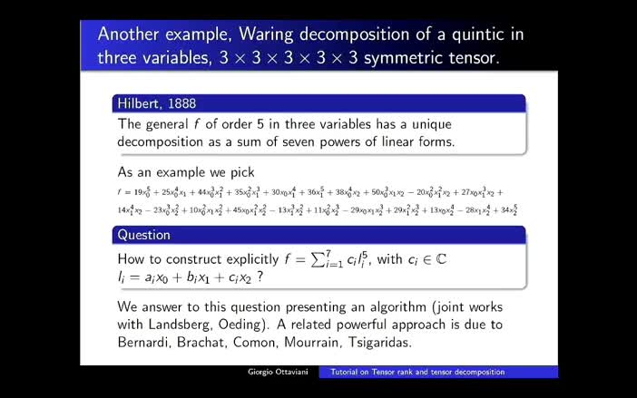 a brief survey on tensor rank and tensor decomposition from a