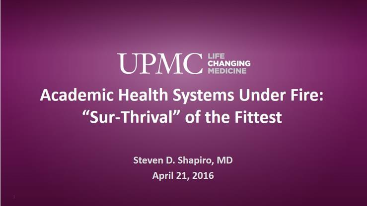 Dr Steven D  Shapiro
