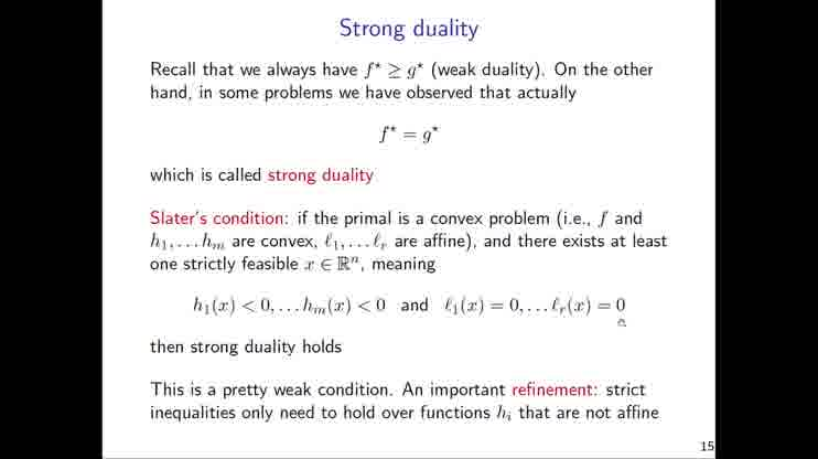 Lecture 11 Convex Optimization