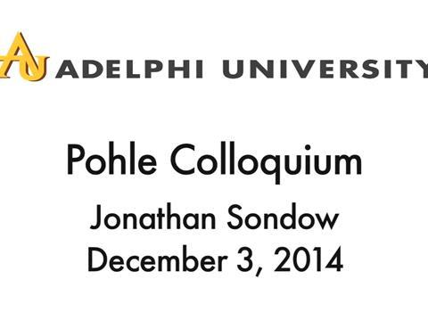 2014-12-03 Pohle Colloquium (Jonathan Sondow)