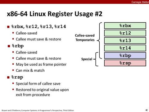 Lecture 07: Machine-Level Programming III: Procedures