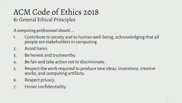 acm code of ethics summary