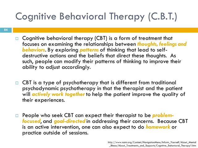 cognitive behavioral therapy homework