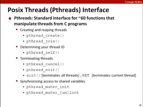 Lecture 26: A Process With Multiple Threads
