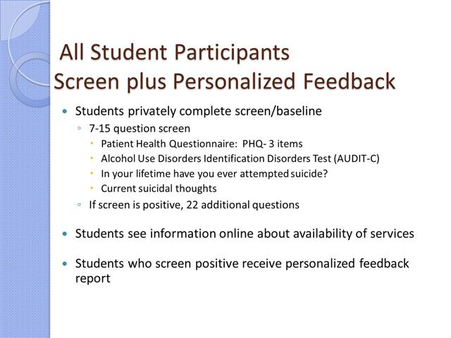 Personalized Screen To Id Suicidal >> Cheryl King Connecting Suicidal College Students To Care