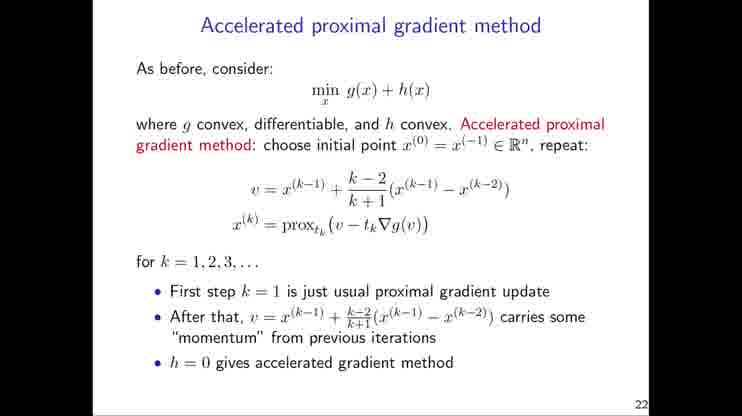 Lecture 08 Proximal Gradient Descent (And Acceleration)