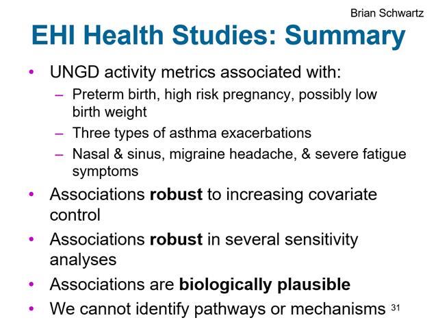 Brian Schwartz MD & Sara Rasmussen MHS - New Research on