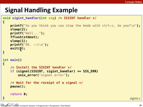 Lecture 15: Exceptional Control Flow: Signals and Nonlocal Jumps
