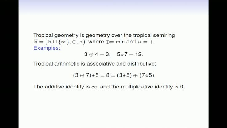 Computations in Tropical Geometry - Diane Maclagan, University of