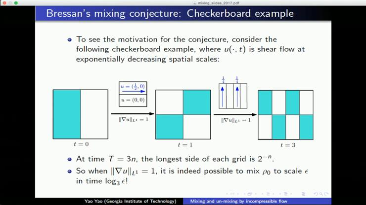 Mixing and un-mixing by incompressible flows - Yao Yao