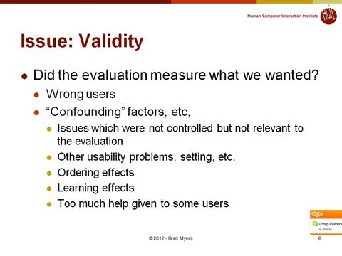Lecture 06 How to Design a Good Usability Evaluation
