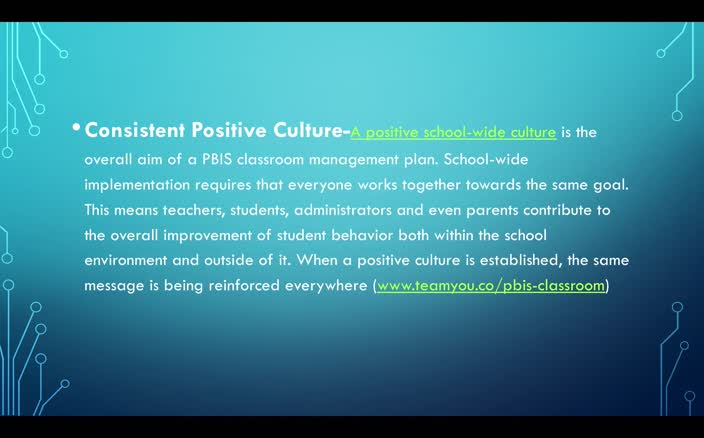 PBIS and Classroom Management