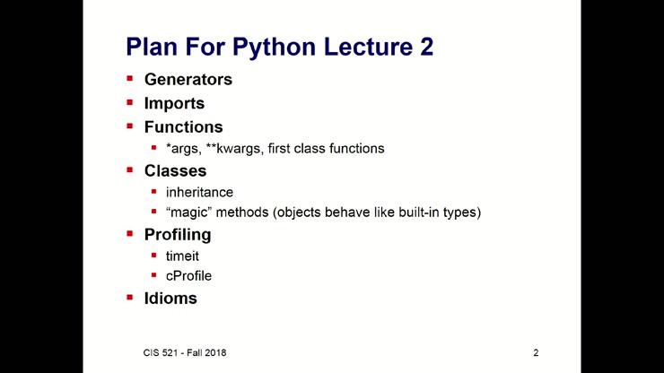 CIS 421/521 - 9/4/18 - Python part 2