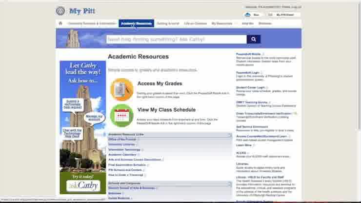 Pitt Academic Calendar.Pitt Computing Module 1 Navigating My Pitt
