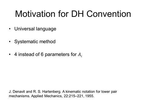 Lecture 05b: Denavit-Hartenberg - Parameters