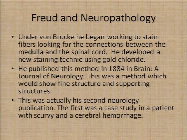 1-24-2012 Sigmund Freud: Neurologist